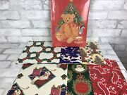 Lot- Vintage Christmas Gift Present Wrapping Paper Sheets 12 And Boxes 4