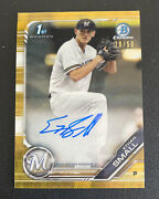 Ethan Small 2019 Bowman 1st Chrome Gold Wave /50 Auto Refractor