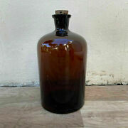 French Hand Blown Antique Apothecary Jar Bottles Amber 26072127