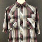 Falcon Bay Western Clothing Shirt Big And Tall Size 2xlt Vintage 80s Rodeo Cowboy