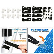 24pieces Pool Solar Cover Reel Attachment Kit For In Ground Swimming Pool