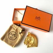 Hermes Brooch Rare Vintage Old Horse Hose Pin Badge With Box Antique 7-526