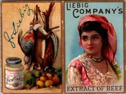1889 Victorian Trade Card Ad Liebig Companyand039s Extract Of Beef