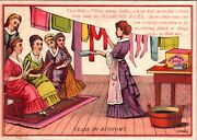 Vtg 1880and039s Victorian Trade Card Ad Diamond Package Dyes Burlington Vermont Vt