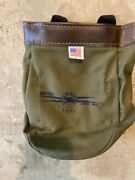 Estex Mfg. Co. Canvas Linemanand039s Tool Bag 1042 8x2x10 New Leather Top Clips