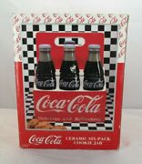 Coca Cola Ceramic Six-pack Carrier Cookie Jar - 1995 New In Box By Enesco Tf