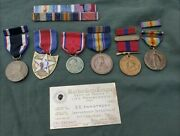 Rare Naned Wwi 2nd Infantry Division Marine Corps Medal Lot Grouping