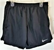 Nike Menand039s Medium Challenger Brief-lined 5andrdquo Running Shorts Black New With Tag
