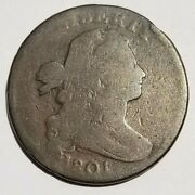 1801 Draped Bust Large Cent 1/000 S-220 Error Fraction Good Beautiful Coin