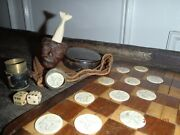 1870and039s Sailor/whaler Made Items Lot. Excellent One Of A Kind Lot.