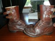 Ww 2 Authentic Named Buckle Boots.andnbsp Andnbspsize 11d