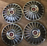1967 Ford Mustang Hubcaps 14andrdquo Vintage Set Of 4 67and039 Wheel Covers Oem Used