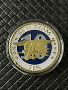 Us Navy Seal Team Ten Clear Cased Gold Coin