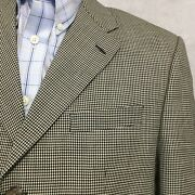Vtg Chaps Jacket Suit Hounds Tooth Sz 42r Checkered 3 Button Wool