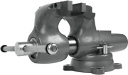 Wilton Machinist 6andrdquo Jaw Round Channel Vise With Swivel Base 28833