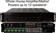 6x6 Whole House Amplifier Matrix Smart Home Amp With App 50 Watts 6 Zones 12 Spe