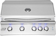 Rcs Gas Grills 32 Premier Grill With Blue Led And Rear Burner - Ng