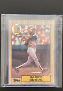 1987 Topps Barry Bonds Pittsburgh Pirates 320 Error Card [mint Condition]