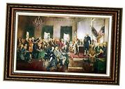 -scene At The Signing Of The Constitution Of The United States Painting