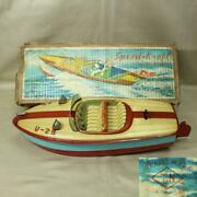 Vintage T. N Nomura Tin Boat Toy Collection U-29 With Box Rare M