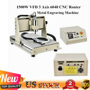 1500w Vfd 3 Axis 6040 Cnc Router Pcb Metal Engraving Carving Mill Machine Cutter