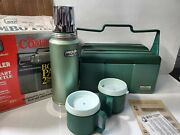 1991 Aladdin Stanley Lunch Cooler W/ Thermos Usa Super Nice Combo W 2 Cups
