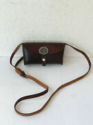 Swiss Army Military Leather Shoulder Bag Ammo Pouch 1966 Edelweiss Switzerland