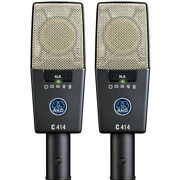 Akg C414 Xls St Multi-pattern Condenser Microphone Matched Stereo Pair +picks