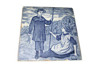 Wedgwood Blue And White Months Of The Year Tile For June Good Condition