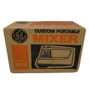 New Vintage Ge Custom Portable Mixer Model M24 Mixes Stirs Whips Beater Storage