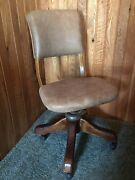 Antique Leather Drafting Desk Office Chair Stool Architect Office Irs Posture