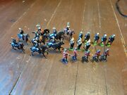 Lot Of 21 Vintage Antique Lead Toy Soldiers England Britain's Ltd Johillco Horse