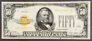 Fr. 2404 1928 Fifty 50 Dollar Gold Certificate Vf+ Circulated Nice Note