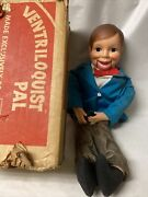Vintage Sears Ventriloquist Pal Doll Dummy Puppet Orig. In Box By Horsman Dolls