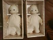 Precious Moments Bethany And Aaron Angel Porcelain Doll 1984 Open Edition Niob