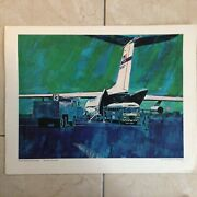 Poster Vintage 1968 Usaf Lithograph 21l Home With The Wounded Size 22x17