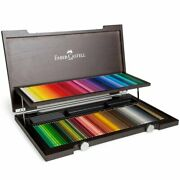 New Faber Castell 120 Polychromos Colouring Pencils Wooden Box Set Drawing Art