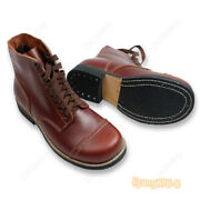 Wwii Us Military Paratrooper Short Boots Retro Men Army Leather Shoes Boots Ww2