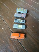 Lot Of 5 Lesney Matchbox Made In England Toy Cars Coach Pontiac Convertible