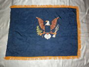 Valley Forge Flag Co Eagle Flag Great Condition.46 X 33 Eagle Both Sides.