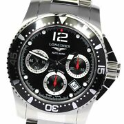 Wristwatch Longines Hydro Conquest L3.744.4 Menand039s Used Silver Black Automatic