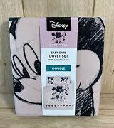 Disney Mickey And Minnie Mouse Kindness Magic Double Reversible Duvet Cover Set