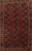 Antique Balouch Geometric Oriental Afghan Area Rug Hand-knotted Wool Carpet 8x11