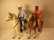 Vintage Hartland Lone Ranger And Silver--- Tonto And Scout. 800 Series