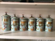 Mackenzie Childs Butterfly Cannisters