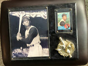 Baseball 540 Bob Clemente With Black White Picture Framed Presentation Marble