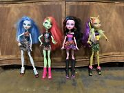 Mattel Monster High Doll Lot Of 4 Dolls With Some Clothes And Accessories