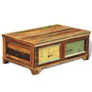 Coffee Table Storage Vintage Drawers Solid Reclaimed Wood Dining Meal Furniture