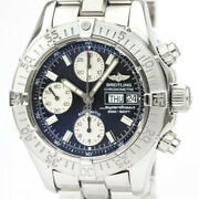 Polished Breitling Chrono Super Ocean Steel Automatic Mens Watch A13340 Bf531352