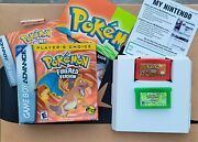 Pokemon Firered Version Complete Cib And Leaf Green Game Boy Advance, 2004